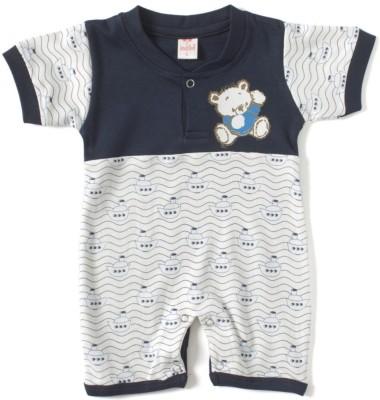 Kandyfloss Baby Boy's Dark Blue Romper