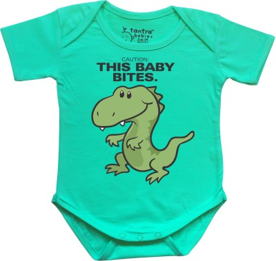 Tantra Baby Boy's Light Green Romper