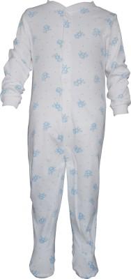 TeddyS Choice Baby Boys White Romper