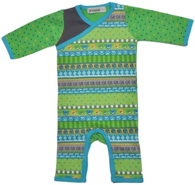 Bio Kid Baby Boy's Green Romper
