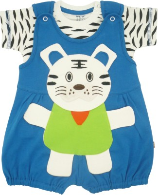 WoW Baby Boy's Blue Romper
