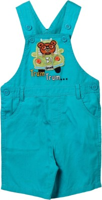 Beebay Baby Boy's Light Green Dungaree