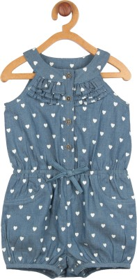 My Lil,Berry Baby Girl's Blue Romper