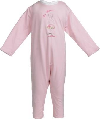 Addyvero Baby Girl's Pink Romper