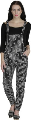 Svt Ada Collections Women's Black Dungaree