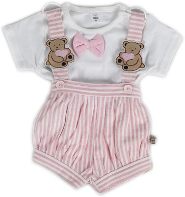 Toffyhouse Baby Girl's Pink, White Romper