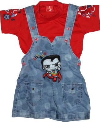 ZuZu Baby Boy's Red Dungaree