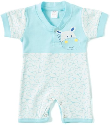 Kandy Floss Baby Boy's Light Blue Romper