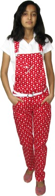 Sunday Casual Girl's Red Dungaree