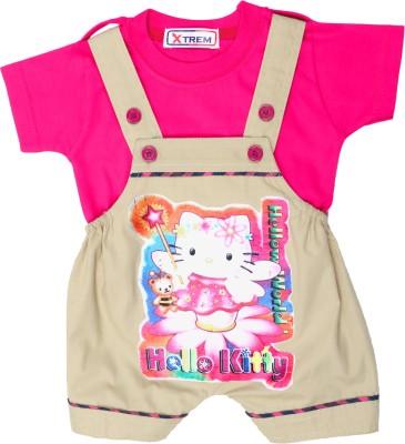 Xtrem Baby Boy's Beige, Pink Romper