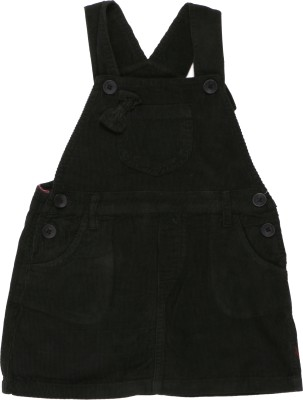ChildKraft Dungaree For Girls(Black)