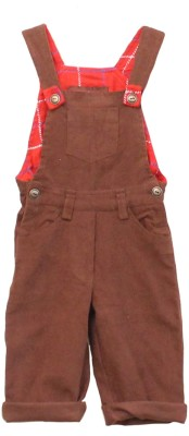 My Little Lambs Baby Girl's Brown Dungaree
