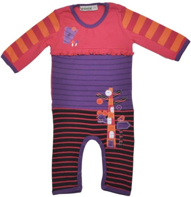 Bio Kid Baby Boy's Purple, Red Romper