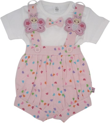 Toffyhouse Baby Girl's Pink Romper