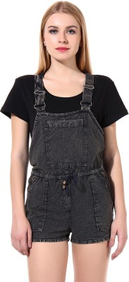 Oxolloxo Women's Grey Dungaree at flipkart