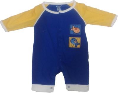 Johny Johny Yes Papa Baby Boy,s Yellow, Blue Romper