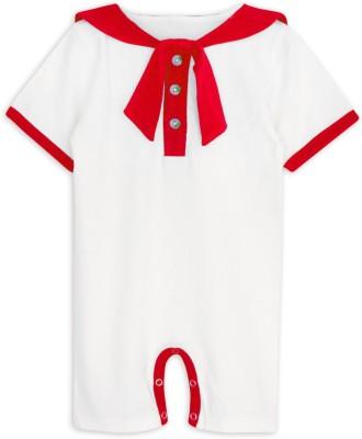 ATUN Baby Girl's Red, White Romper