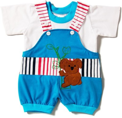 Camey Baby Boy's Blue Dungaree