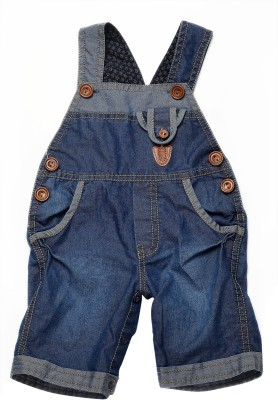 Little Kangaroo Baby Boy's Dark Blue Dungaree