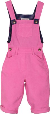 My Little Lambs Girls Pink Dungaree