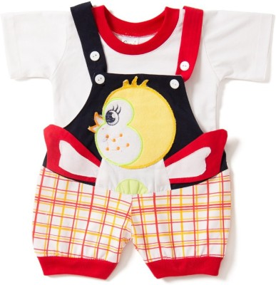 Icable Baby Boy's Red Dungaree