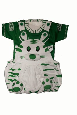 Icable Baby Boy's Green Dungaree