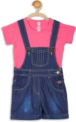 612 League Baby Girl's Blue Dungaree