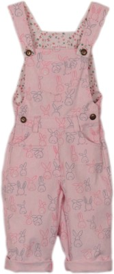 My Little Lambs Girl's Pink Dungaree