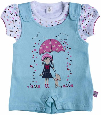 Toffyhouse Baby Girl's Blue Romper