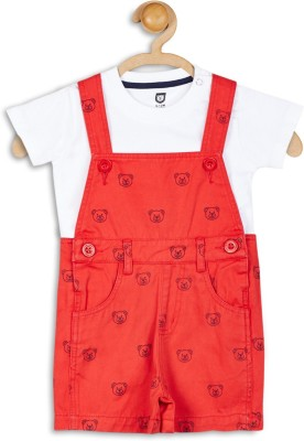 612 League Baby Boy's Red Dungaree
