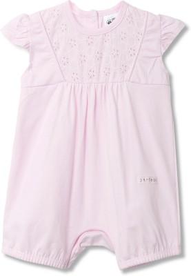 FS Mini Klub Baby Girls Pink Romper
