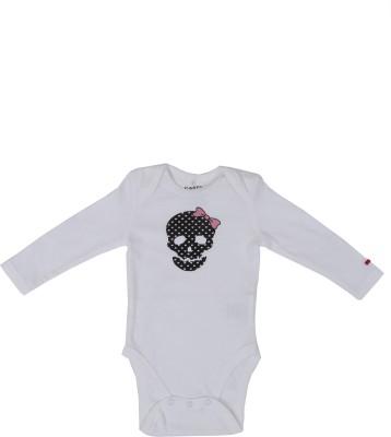 SAIAANSH Baby Boy's White Romper