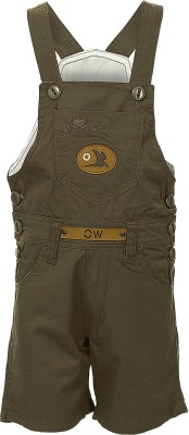 Benext Dungaree For Boys Solid Cotton(Multicolor)