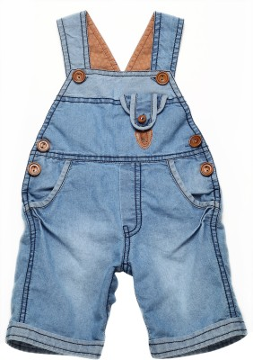 Little Kangaroo Baby Boy's Light Blue Dungaree