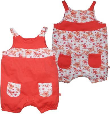 FS Mini Klub Baby Girl's Orange Romper