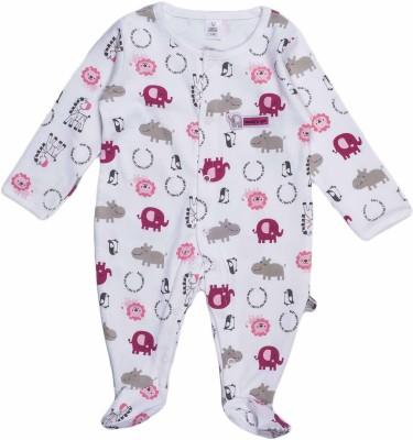 Toffyhouse Baby Girl's White Sleepsuit