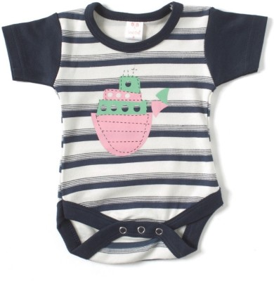 Kandy Floss Baby Boy's Dark Blue Romper