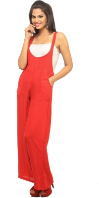 Cottinfab Women's Red Dungaree