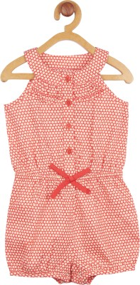 My Lil,Berry Baby Girl's Red Romper