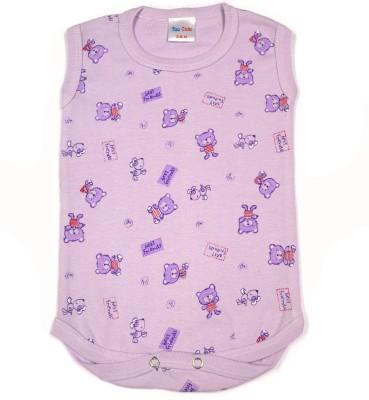 Too Cute Baby Boy's Purple Romper