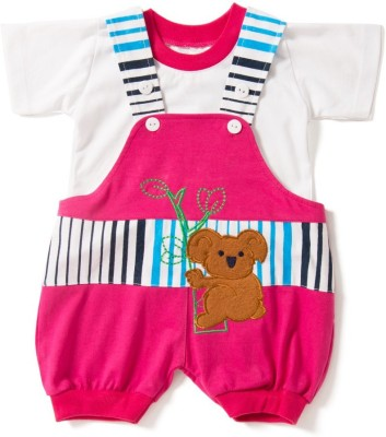 Camey Baby Boy's Pink Dungaree