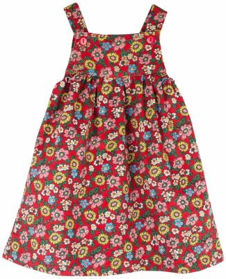 Snuggles Baby Girl's Multicolor Dungaree