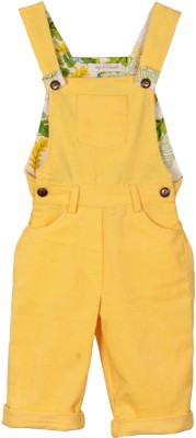 My Little Lambs Baby Girl's Yellow Dungaree