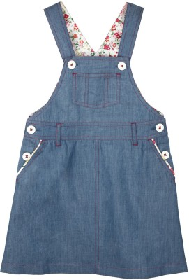 My Lil,Berry Girl's Blue Dungaree