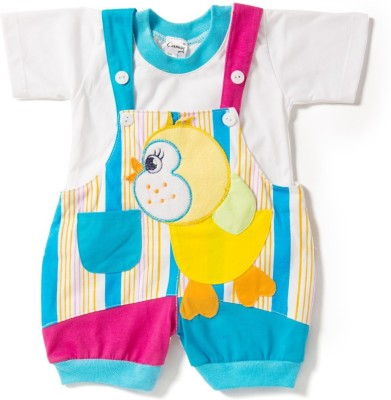 Camey Baby Girl's Blue Dungaree