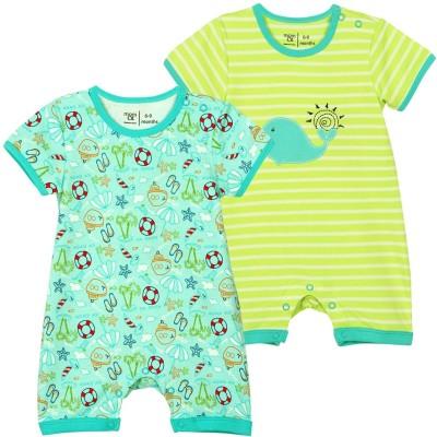 Mom & Me Baby Boy,s Multicolor Romper