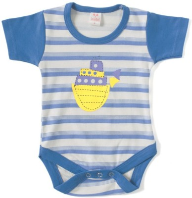 Kandy Floss Baby Boy's Blue Romper