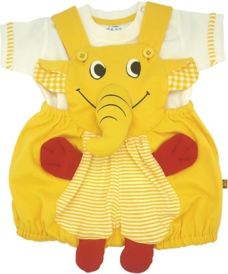 WoW Baby Boy's Yellow Romper