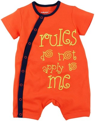 Babyoye Baby Boy's Orange Romper