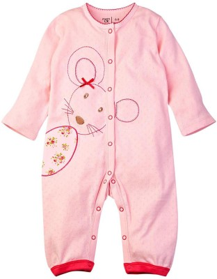 Mom & Me Baby Girl's Pink Romper
